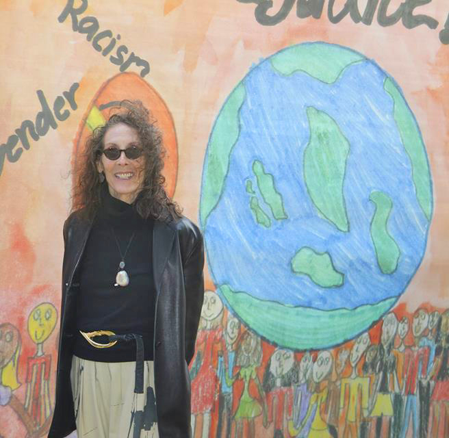 Students Draw the Line Against Prejudice Mural