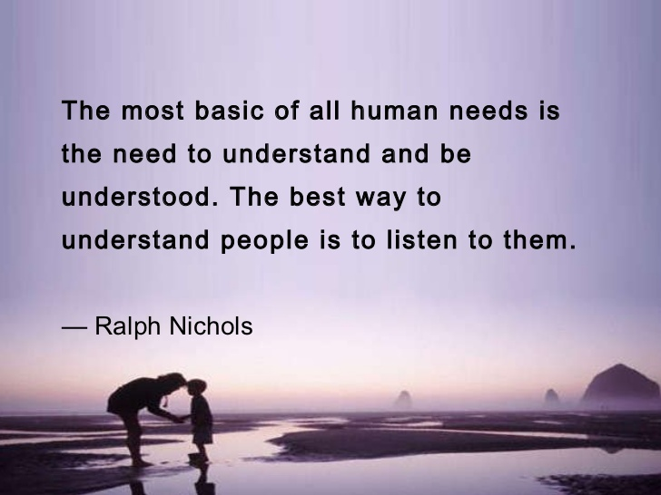 The art of listening!